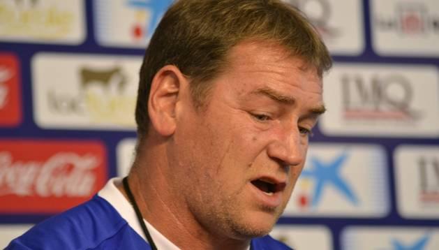 El entrenador Jan Urban, en rueda de prensa