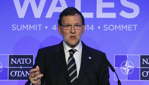 Rajoy comparece al finalizar la cumbre de la OTAN en Gales