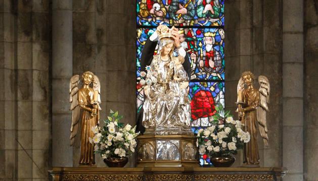 Celebración del 50 aniversario de la coronación de la Virgen de Roncesvalles, en 2010.