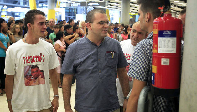 El padre Toño, a su llegada a Madrid