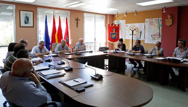 Imagen de un pleno del Ayuntamiento de Beriáin del 2013.