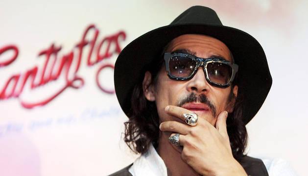 Óscar Jaenada en la presentación de la película 'Cantinflas' en México