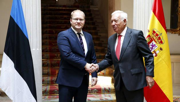 El ministro de Exteriores, José Manuel García Margallo, y su homólogo de Estonia Urmas Paet