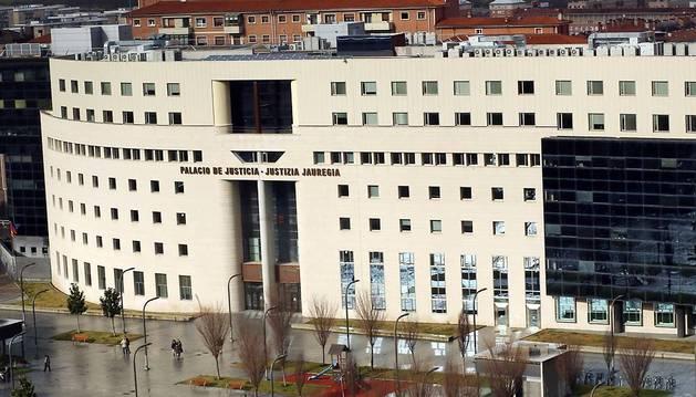 Imagen exterior del Palacio de Justicia de Navarra.