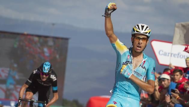 Fabio Aru se impuso a Froome en el sprint final