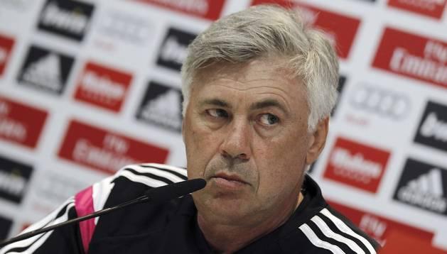El técnico blanco, Carlo Ancelotti