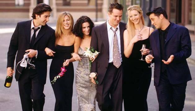 Los protagonistas de Friends.