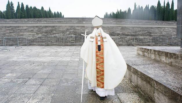 El Papa en los cementerios de la Gran Guerra de Fogliano Redipuglia.