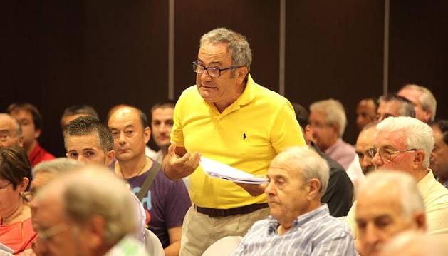 Luis Sabalza, en una asamblea