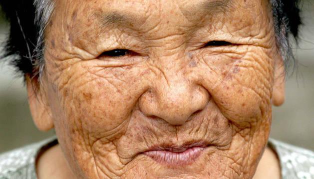 Anciana japonesa.