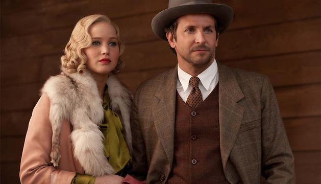 Jennifer Lawrence y Bradley Cooper, en 'Serena'.