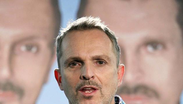 El cantante Miguel Bosé, en 2012