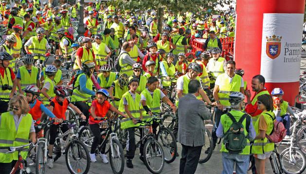 Marcha en bici de la 'Semana de movilidad'.