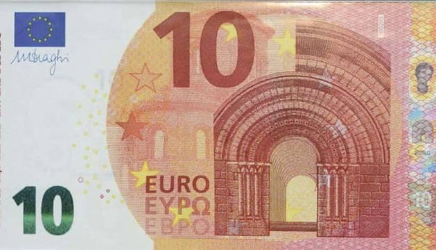 Nuevo billete de diez euros.