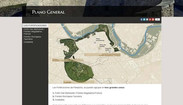 Espacio de la web dedicado a las fortificaciones.