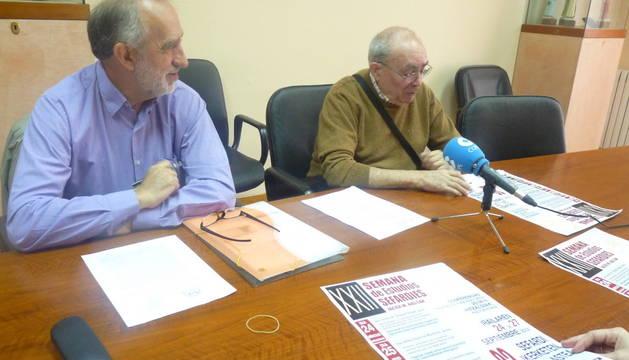 José Martínez Fernández de Las Heras y Javier Caamaño Eraso,  en la presentación del programa.