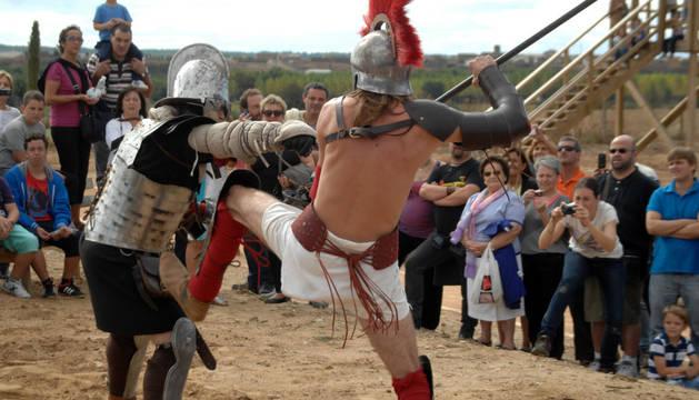 Lucha entre gladiadores en la edición de la fiesta del año pasado.