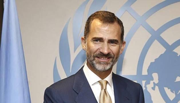 El rey Felipe VI y doña Letizia acudieron a la ONU, ante cuya Asamblea General pronunció un discurso, durante su visita oficial a Estados Unidos.