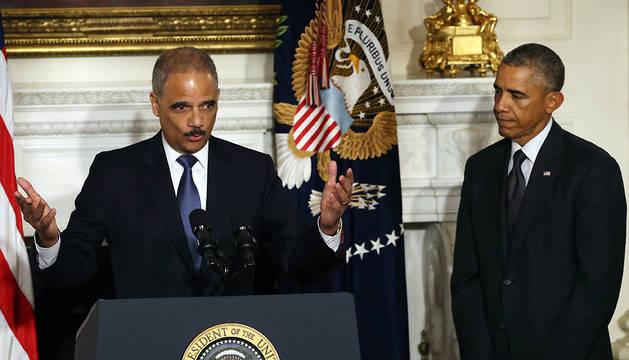 Barack Obama anuncia la dimisión de Eric Holder como fiscal general