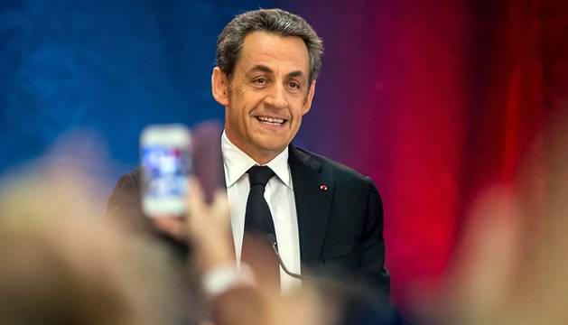 Sarkozy, durante su mitin en Lambersart.