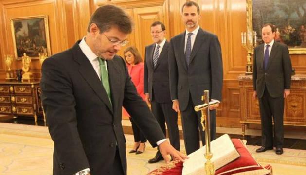 El corellano Rafael Catalá, nuevo ministro de Justicia, jura su cargo