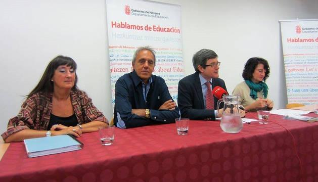 De izquierda a derecha; Jiménez, Pélach, Iribas y Pérez, este lunes