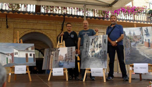 El artista Eduardo Alsasua gana el VIII concurso de pintura Villa de Peralta