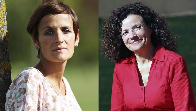 María Chivite (izda.) y Amanda Acedo