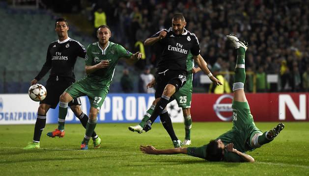El Real Madrid sufre para conseguir la victoria en Bulgaria