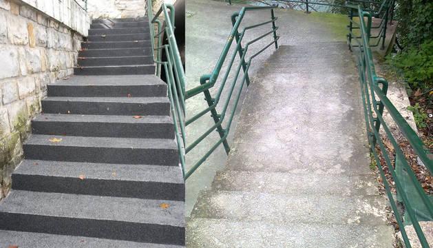 Comienzan las obras de pavimentación en la cuesta del Labrit