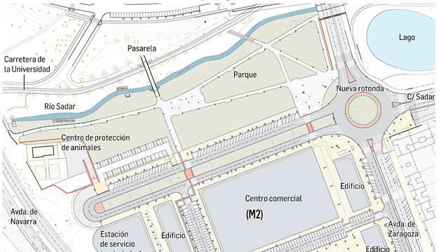 Un recurso podría paralizar el plan del centro comercial de Azpilagaña