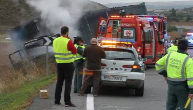Fallecen un joven, su abuela y su tía en un accidente de tráfico en Navarra