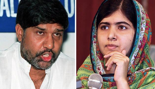 Kailash Satyarthi (izda.) y Malala Yousafzai