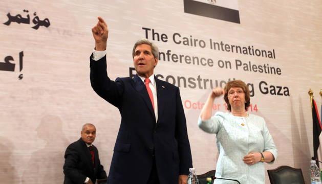 El secretario de Estado norteamericano, John Kerry, y la jefa de la diplomacia europea, Catherine Ashton.