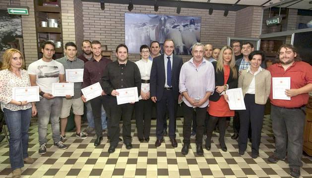Entrega de diplomas a las empresas artesanales agroalimentarias