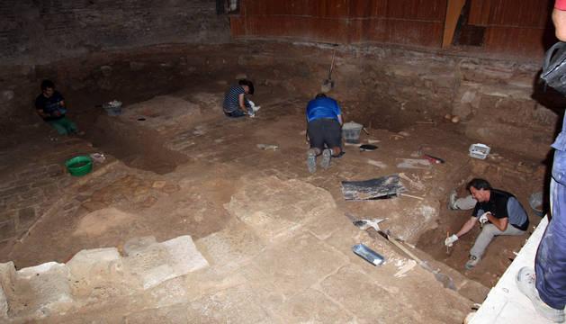 Imagen de las excavaciones que se realizaron en agosto.