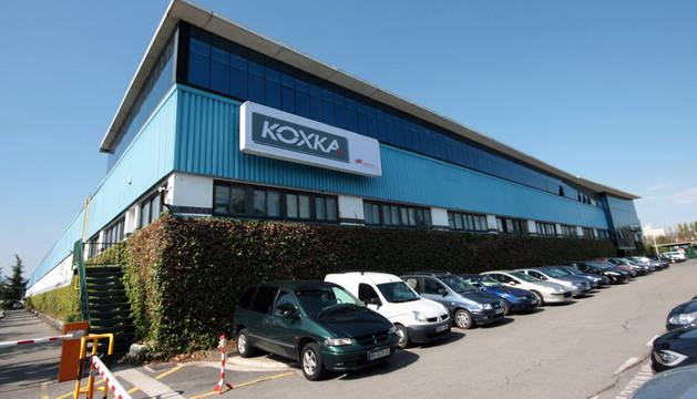 Fábrica de Koxka en el polígono de Landaben.