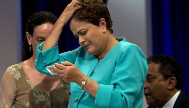 La presidenta de Brasil, durante la entrevista