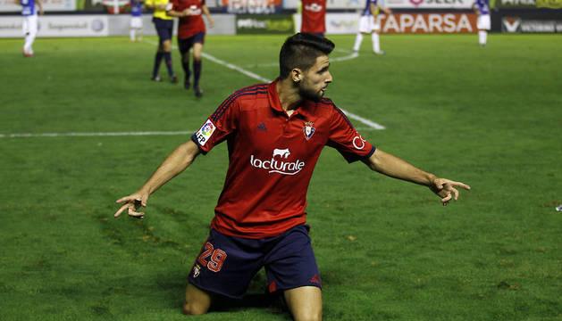 Kenan Kodro celebra el 3-2 contra el Tenerife