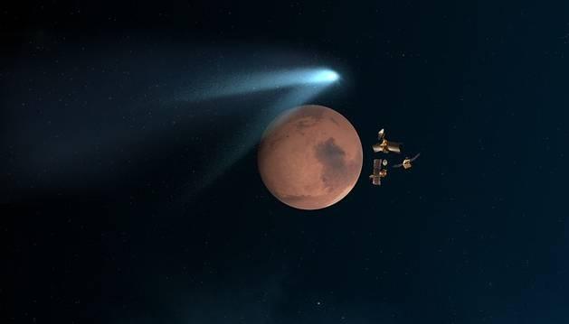 El cometa Siding Spring, 'cazado' a su paso por Marte