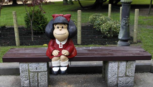 Escultura de Mafalda con la que se homenajeará a Quino