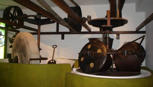 Trujal ecólogico  del museo del aceite de Ekolo en Arróniz