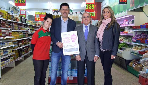 De izquierda a derecha: Jenifer Grande, Roberto Hernández, Francisco Arasanz y Yolanda Ansó.