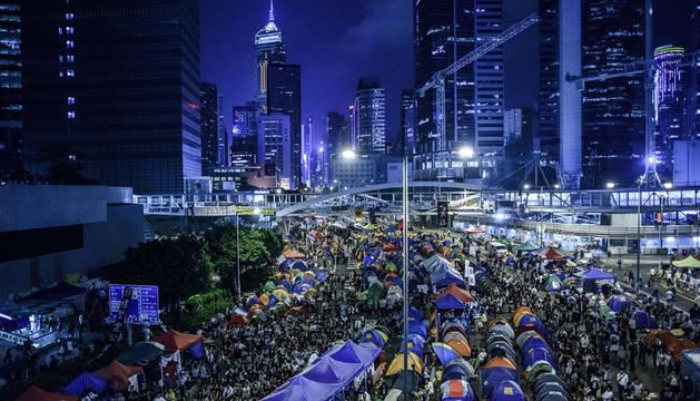 Los prodemócratas continuan con su protesta en Hong Kong
