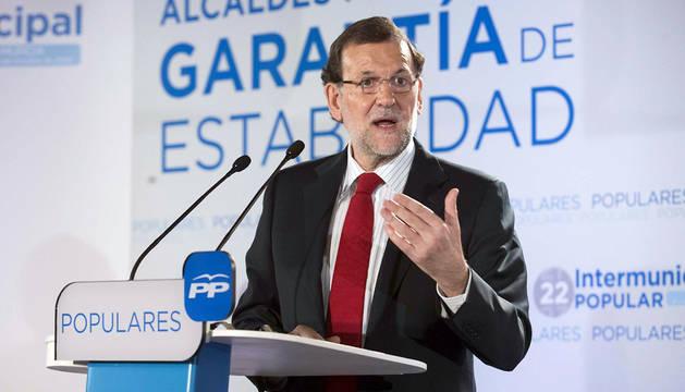 Mariano Rajoy, en Murcia.