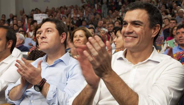 Pedro Sánchez y Emiliano García-Page, en Cuenca.
