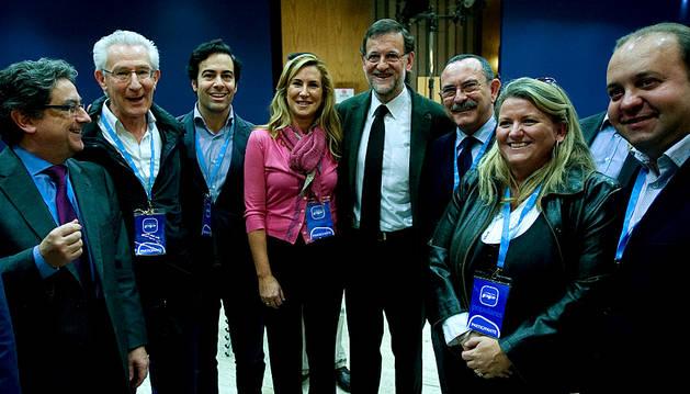 Miembros del PPN con Mariano Rajoy