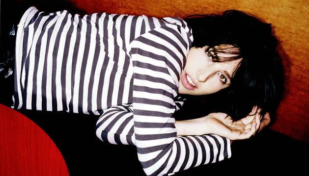 La líder y cantante de la banda escocesa Texas, Sharleen Spiteri.