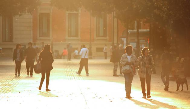 El buen tiempo a finales de Octubre con temperaturas cercanas a los 25ºC