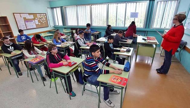 Alumnos del IES Julio Caro Baroja de Pamplona